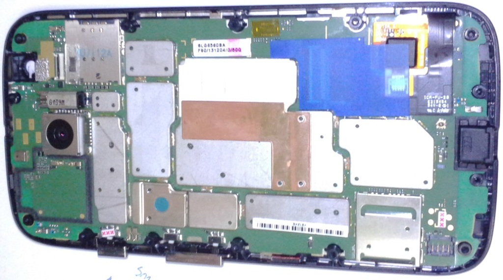 Moto G Phone - Motorola inside mainboard cover